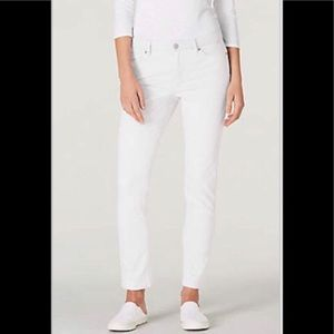 J. Jill Denim Authentic Slim Ankle White Jeans